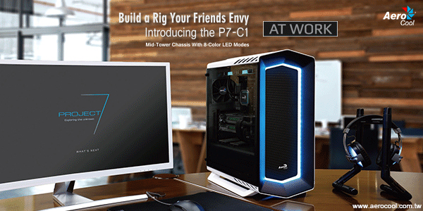 A One Are Proud to Showcase the Brand New Aerocool P7-C1 with Optional Tempered Glass!