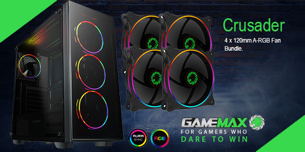 Brand New Game Max Crusader A-RGB Bundle Now In Stock @ A One! Click Here for More Info...