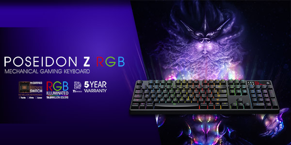 Brand New Thermaltake Tt esports Poseidon Z Mechanical RGB Illuminated Gaming Keyboards - In Stock Soon @ A One!