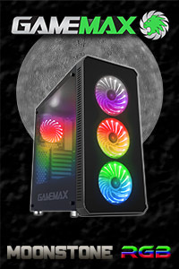 Game Max Moonstone RGB & Tempered Glass Case - In stock Now @ A One!