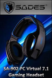 Sades SA-902 PC Virtual 7.1 Gaming Headset - Now In Stock!