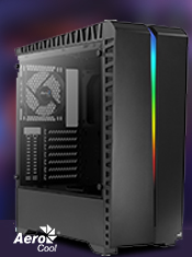 The Aerocool Scar with RGB LED Front Panel & Tempered Glass