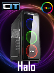 The CiT Halo RGB Gaming Case