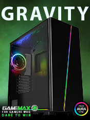 GameMax Gravity Gaming Case with ARGB Sync, 2 x LED Strips, 3 x Fans and 3-pin Hub