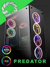 The Game Max Predator RGB Full Tempered Glass Gaming Case with MB SYNC 3pin from A One