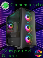 GameMax Commando TG - Micro ATX Tempered Glass Case - In Stock Now @ A One!