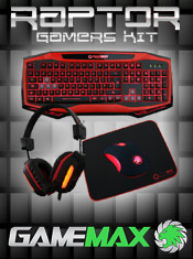 Game Max Raptor Keyboard Mouse & Headset Kit - Now In Stock @ A One!