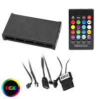 Unbranded RGB Fan Controller With Remote 6pin & Molex - Click below for large images