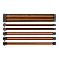 Thermaltake TtMod Sleeved Cable Black & Orange Kit - Click below for large images