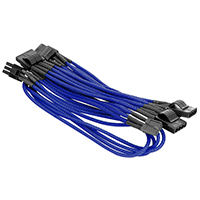 Thermaltake Individually Sleeved Cable Blue 500mm 4Pin Peripheral Cable - Click below for large images