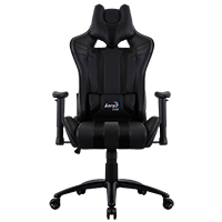 Aerocool AC120 Air Black Gaming Chair with Air Technology and Headrest & Backrest Cushions Included - Click below for large images