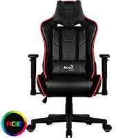Aerocool AC220 Air RGB Black Gaming Chair ETA. Coming Soon  - Click below for large images