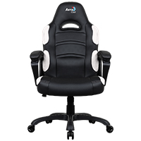 Aerocool AC80C Air Black & White Gaming Chair with Air Technology & Unique Carbon Fibre Blend - Click below for large images