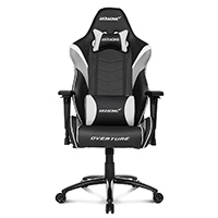 AK Racing  Overture White Gaming Chair  - Click below for large images