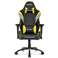 AK Racing  Overture Yellow Gaming Chair - Click below for large images