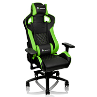 Thermaltake Tt E-Sports GTF100 Black & Green Fit Series Gaming Chair  - Click below for large images