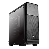 Aerocool Aero 300 Black Mid Tower Case with Side Window - Click below for large images