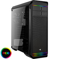 Aerocool Aero 500 Black RGB Mid-Tower Gaming Case With Window (Black Bay Handle) - Click below for large images