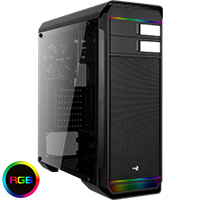 Aerocool Aero-500 Black RGB Gaming Case With Window - Click below for large images