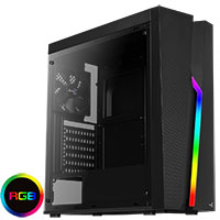 Aerocool Bolt Mid-Tower Perspex Side Panel RGB LED Front Panel - Click below for large images