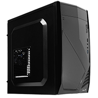 Aerocool CS102 Black Mid Tower Case 2 x USB2 1 x USB3  - Click below for large images
