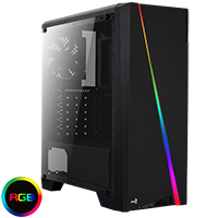Aerocool Cylon Black RGB LED Midi Case  - Click below for large images