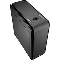 Aerocool DS 200 Black Gaming Case Noise Dampening 2 x USB3 7 Colour LCD Panel - Click below for large images