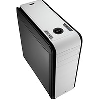 Aerocool DS 200 Black/White Gaming Case Noise Dampening 2 x USB3 7 Colour LCD - Click below for large images