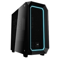 Aerocool Project 7 P7C0 Black 10 Colour LED Mode with Dual Tempered Glass Panels - Click below for large images