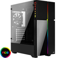 Aerocool Playa Mid-Tower RGB LED Temp Glass - Click below for large images