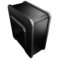Aerocool QS240 Gaming M-ATX Case USB3 Black Interior With Side Window - Click below for large images