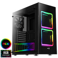 Aerocool Tor Mid-Tower Square RGB Fans - Click below for large images