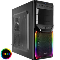 Aerocool V3X Black RGB Mid-Tower Gaming Case - Click below for large images