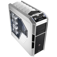 Aerocool X-Predator X3 White Gaming Case Black Interior 20CM White LED Fan - Click below for large images