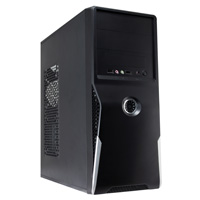 CiT 1019 Black/Silver Midi Case 500W PSU - Click below for large images