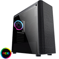 CiT Alizarin Black Gaming Case With Full Acrylic Window - Click below for large images