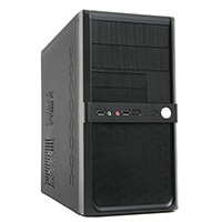 CiT Shade Micro ATX Black Interior Mesh Case 500W 12cm Black PSU - Click below for large images
