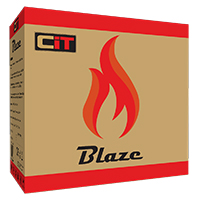CiT Blaze Gaming Chassis 6 x Single Ring Fan Blue Tempered Glass  - Click below for large images