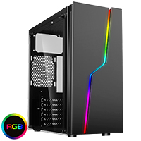 CiT Bolt RGB Tempered Glass Gaming Case - Click below for large images