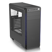 CiT Challenger Mid-Tower Gaming Case Full Window 33 LED Fans - Click below for large images