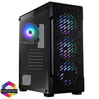 CiT Crossfire Gaming Case 4 x ARGB Fans Glass Side MB SYNC 3pin - Click below for large images