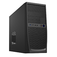 CiT Elite Micro ATX Case Black Interior 500W 12cm Black PSU - Click below for large images