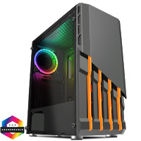 CiT Havoc Midi ATX 1 x ARGB Fan and Hub Tempered Glass - Click below for large images