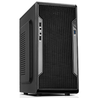 CiT Barricade Mesh Gaming Case USB3 Black Interior Mesh Front - Click below for large images