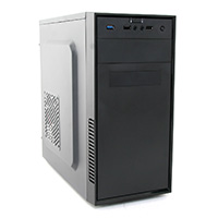 CiT MX-A07 Black Micro ATX Chassis Black Interior 500W PSU USB3 Cable Management - Click below for large images