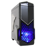 CiT Spectre Gaming Case 2 x USB3 Side Window Toolless Card Reader Black - Click below for large images