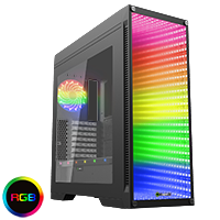 GameMax Abyss ATX Full Tower Temp Glass Front Panel - Click below for large images