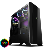 Game Max Aurora RGB Mid-Tower Tempered Glass Gaming Case - Click below for large images
