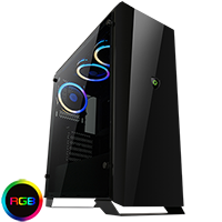 Game Max Aurora RGB Midi Tempered Glass Gaming Case - Click below for large images