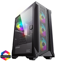 GameMax Brufen C1 ARGB Case 4 x ARGB Fans Turbo MB Cooling Fan - Click below for large images